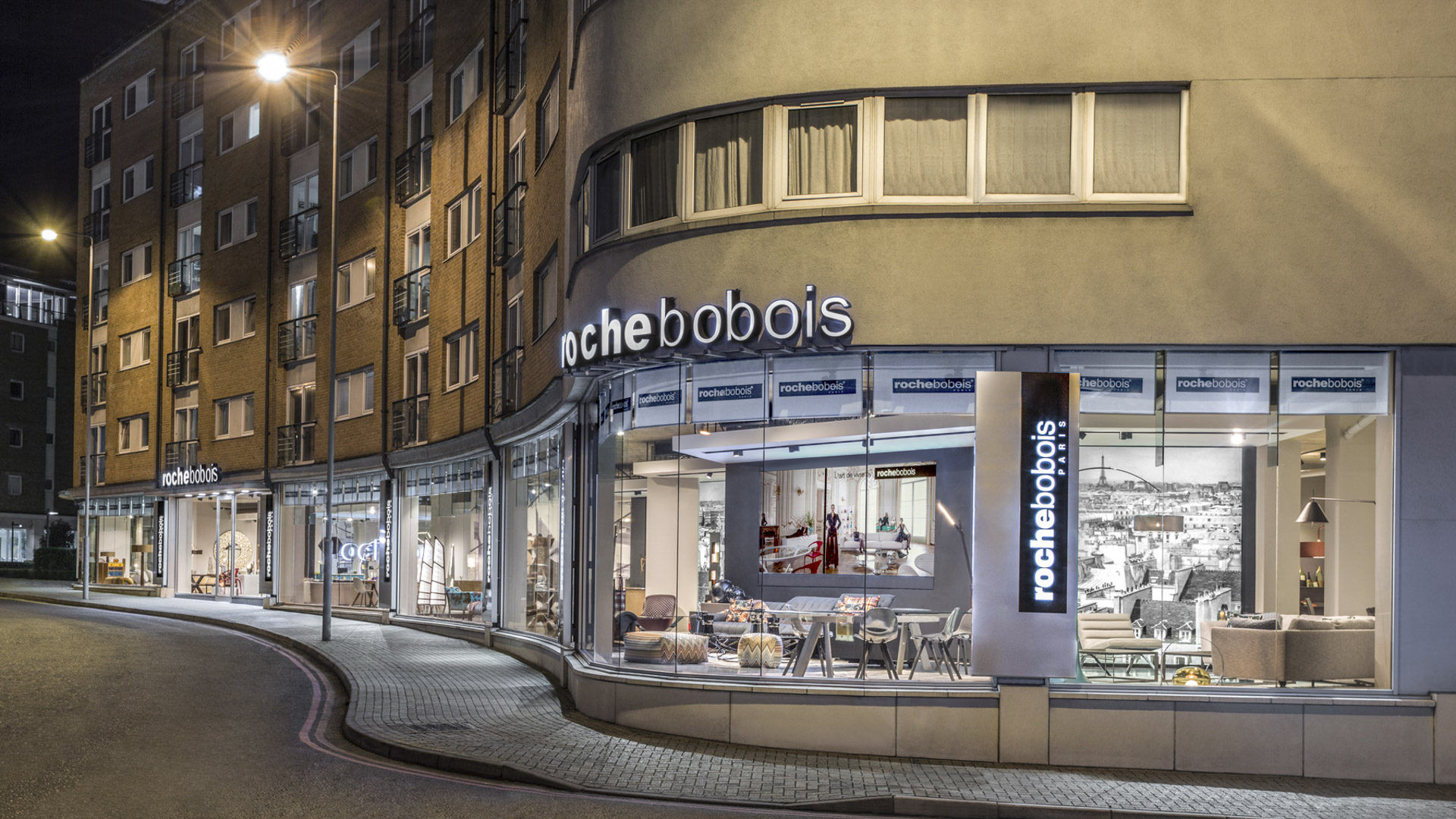 Retail exterior architectural photographer interior for Retail interior designers in london