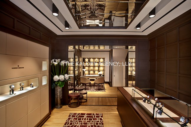 Mayfair store photographer pictures of vacheron for Retail interior designers in london