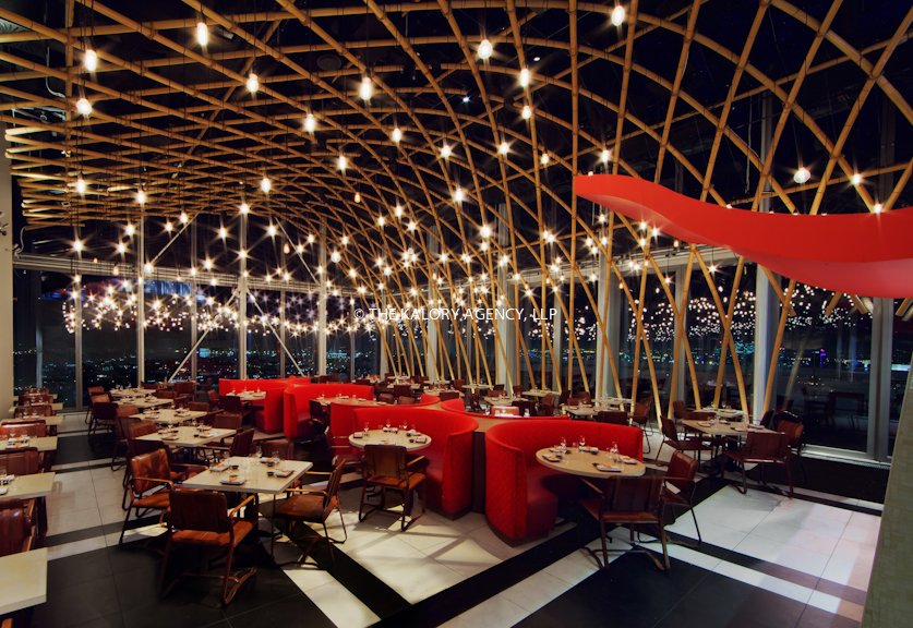 Interior design and architecture restaurant photography