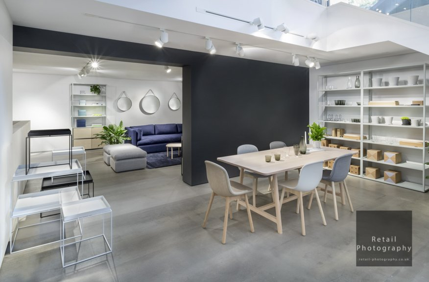 Interior shoot retail photographer london on location lighting control