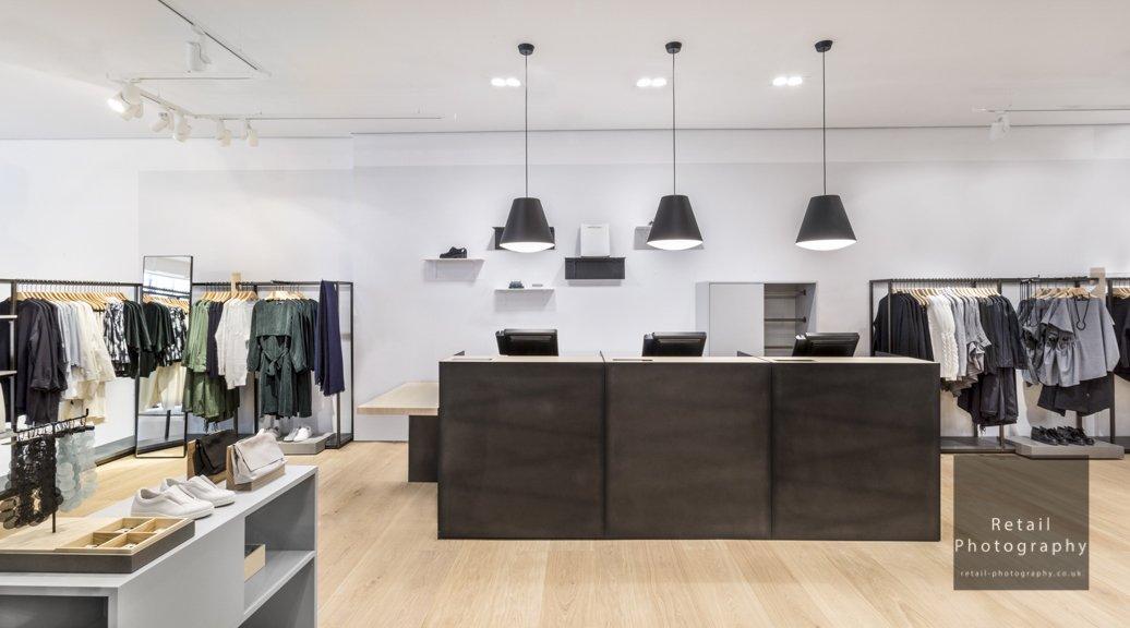 London photographers retail stores interiors clothing lighting
