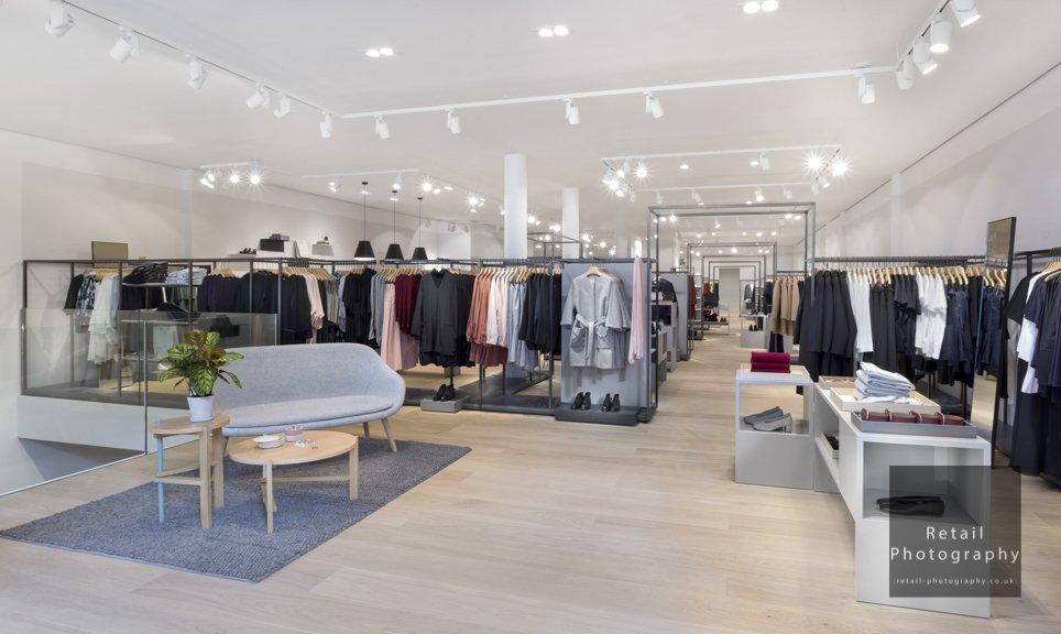 Retail store photographers london lighting retouching quality