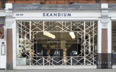 Georg Jensen Animation in the Skandium windows in London