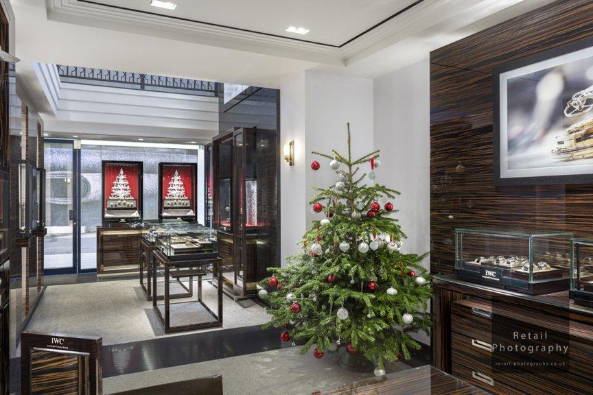 Interior christmas store london luxury retail specialists photographers