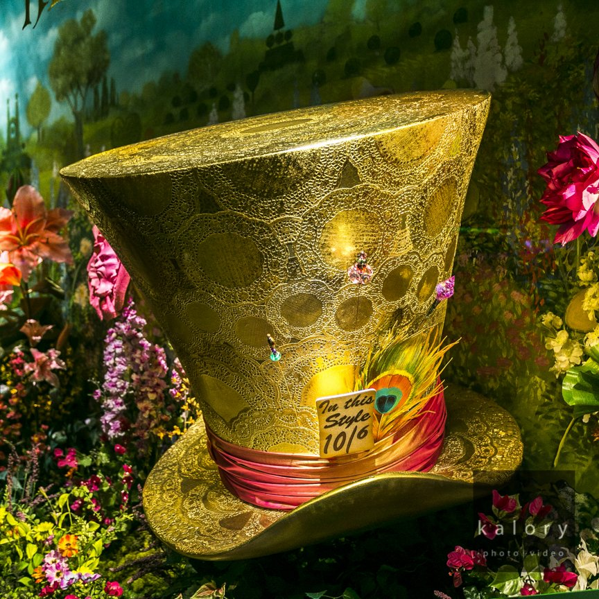 Fortnum & Mason windows photographed on Piccadilly – Alice in wonderland special