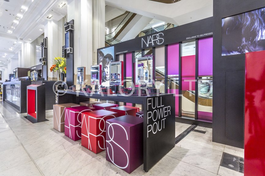 retail photography for nars cosmetics